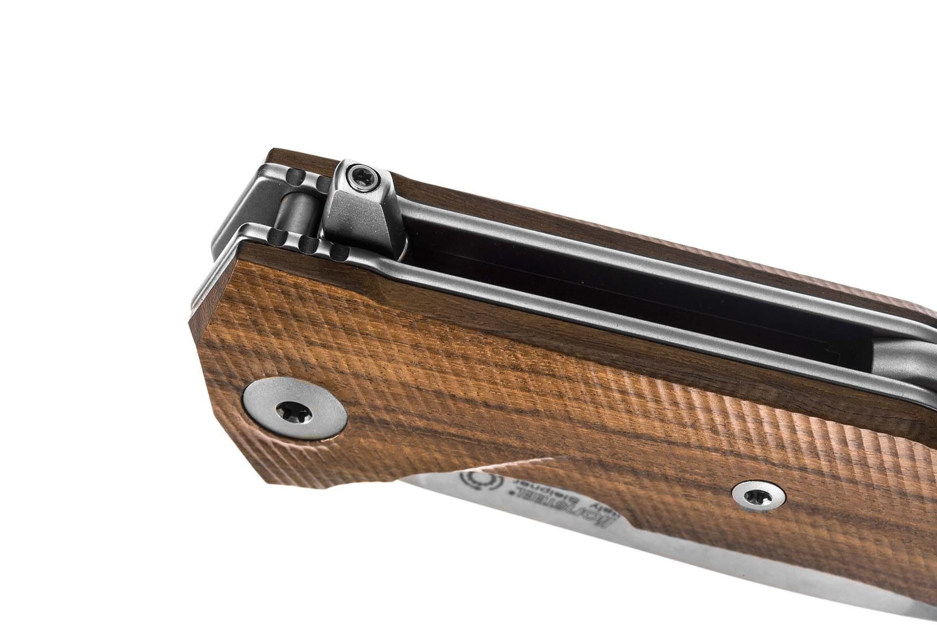 Фото 4 - Нож складной LionSteel KUR ST Santos Wood, сталь Stonewashed Uddeholm Sleipner®, рукоять палисандр от Lion Steel