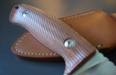 Нож с фиксированным клинком LionSteel M3 ST Santos Wood, сталь Niolox, рукоять палисандр. Вид 7