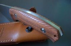 Нож с фиксированным клинком LionSteel M3 ST Santos Wood, сталь Niolox, рукоять палисандр, фото 8