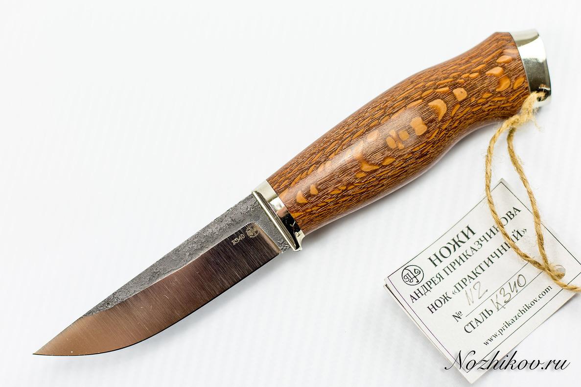 Нож Практичный №2 из кованой стали Bohler K340 нож разделочный 26 из кованой стали хв5