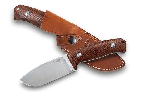 Нож с фиксированным клинком LionSteel M3 ST Santos Wood, сталь Niolox, рукоять палисандр. Вид 2