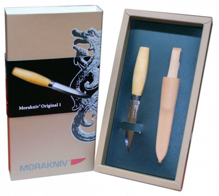 Фото 6 - Нож с фиксированным лезвием Morakniv Original 1, ламинированная сталь, рукоять береза