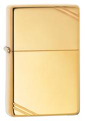 Зажигалка ZIPPO Vintage™ с покрытием High Polish Brass