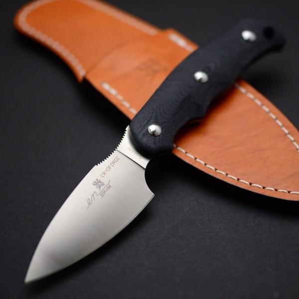 Туристический нож G.Sakai, Camper En Fixed, сталь ZDP-189, цвет Black G-10, в подарочной коробке