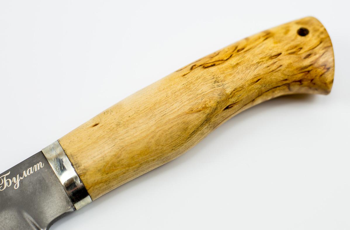 Фото 9 - Нож Егерь, сталь булат, карельская береза от Промтехснаб