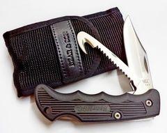 Складной нож Bear & Son, Cushioned Grip, 460GH, нержавеющая сталь 440, с двумя лезвиями, фото 2
