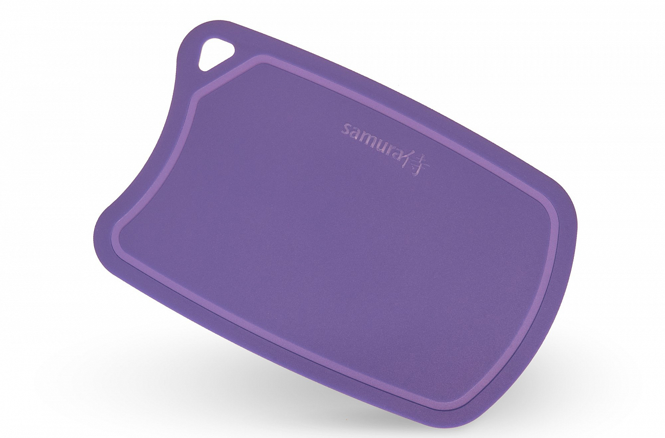 Доска Samura термопластиковая, 380х250х2 мм, фиолетовая