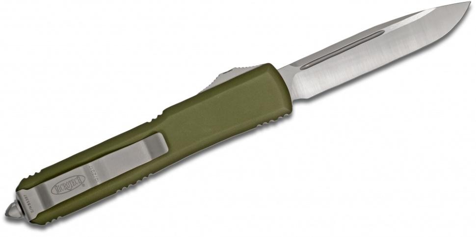 Фото 5 - Автоматический выкидной нож Microtech Ultratech S/E MT_121-4OD, сталь M390, рукоять алюминий