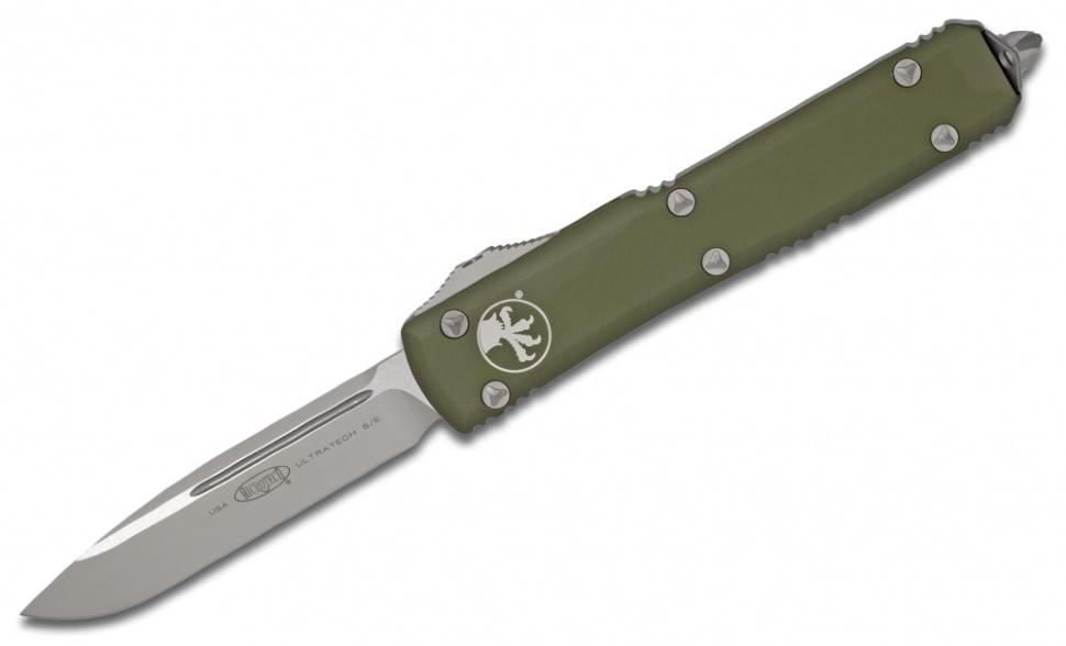 Фото 6 - Автоматический выкидной нож Microtech Ultratech S/E MT_121-4OD, сталь M390, рукоять алюминий