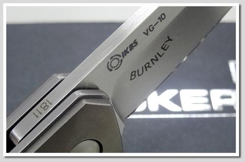 Нож складной Mini Kwaiken Titanium Folder (IKBS® Flipper) - Boker 01BO290, сталь VG-10 Satin, рукоять титан. Вид 12