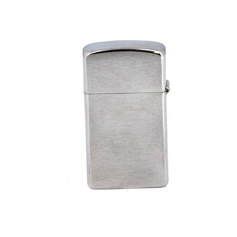 Зажигалка ZIPPO Slim® с покрытием Brushed Chrome, латунь/сталь, серебристая, матовая, 30х10x55 мм - Nozhikov.ru