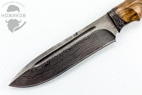 Авторский Нож из Дамаска №63, Кизляр. Вид 2