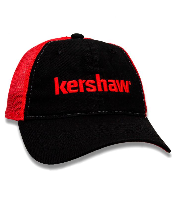 Бейсболка Kershaw KCAPKER181, черно-красная чехол книжка samsung clear view standing cover ef zg960cbegru для samsung galaxy s9 черный