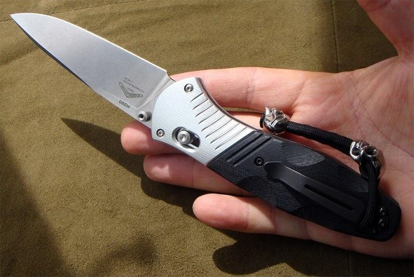 Фото 8 - Полуавтоматический нож Barrage 581, сталь M390, рукоять алюминий от Benchmade