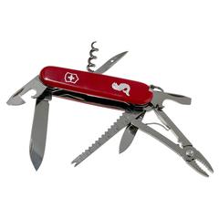 Нож перочинный Victorinox Angler, сталь X55CrMo14, рукоять Cellidor®, красный, фото 4