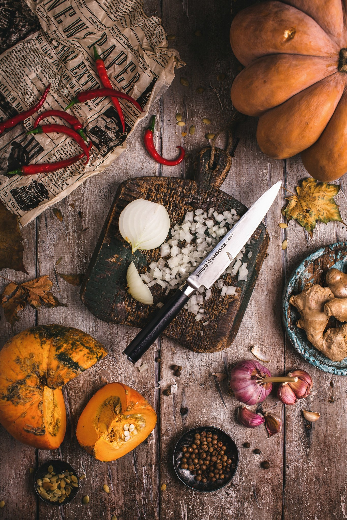 Фото 3 - Нож кухонный универсальный Samura Damascus SD-0023/Y, сталь VG-10/дамаск, рукоять G-10