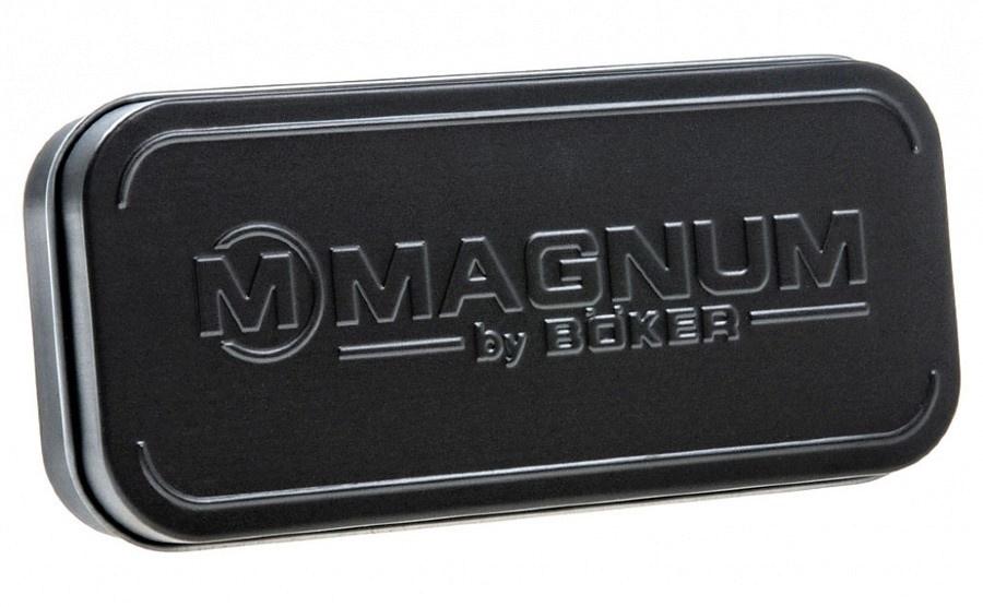 Фото 7 - Нож складной Magnum Delta Whiskey - Boker 01MB703, сталь 440B Satin Plain, рукоять стеклотекстолит G10, бежевый