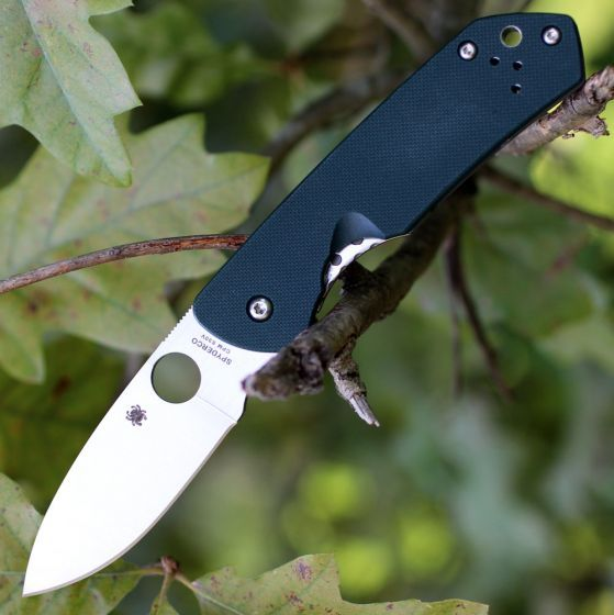 Фото 3 - Складной нож Brouwer - Spyderco C232GTIP, сталь Crucible CPM® S30V™ Satin Plain, рукоять титан/стеклотекстолит G10