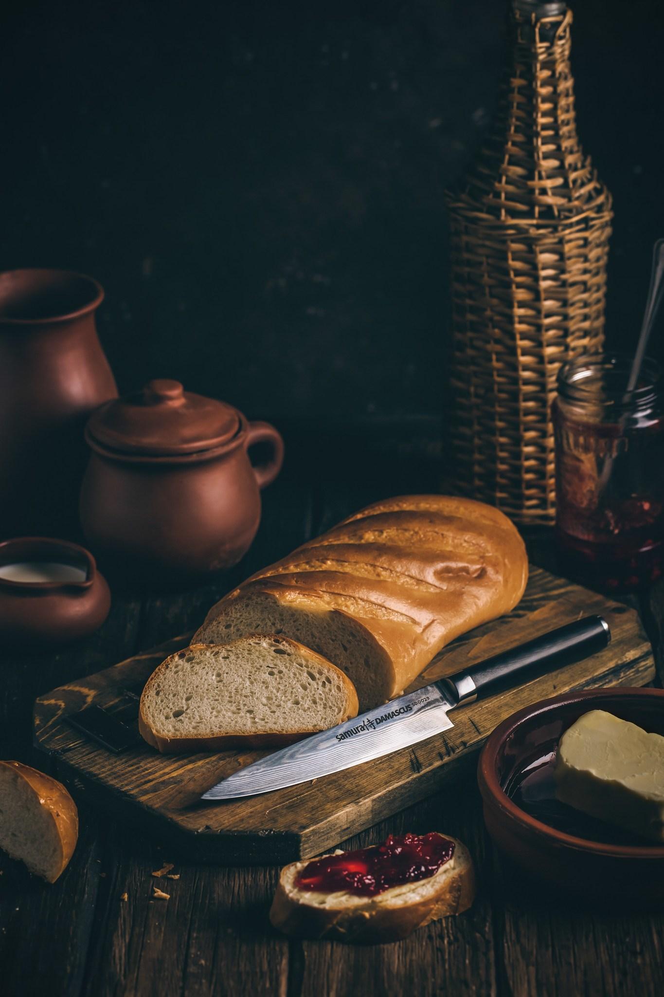 Фото 10 - Нож кухонный универсальный Samura Damascus SD-0023/Y, сталь VG-10/дамаск, рукоять G-10
