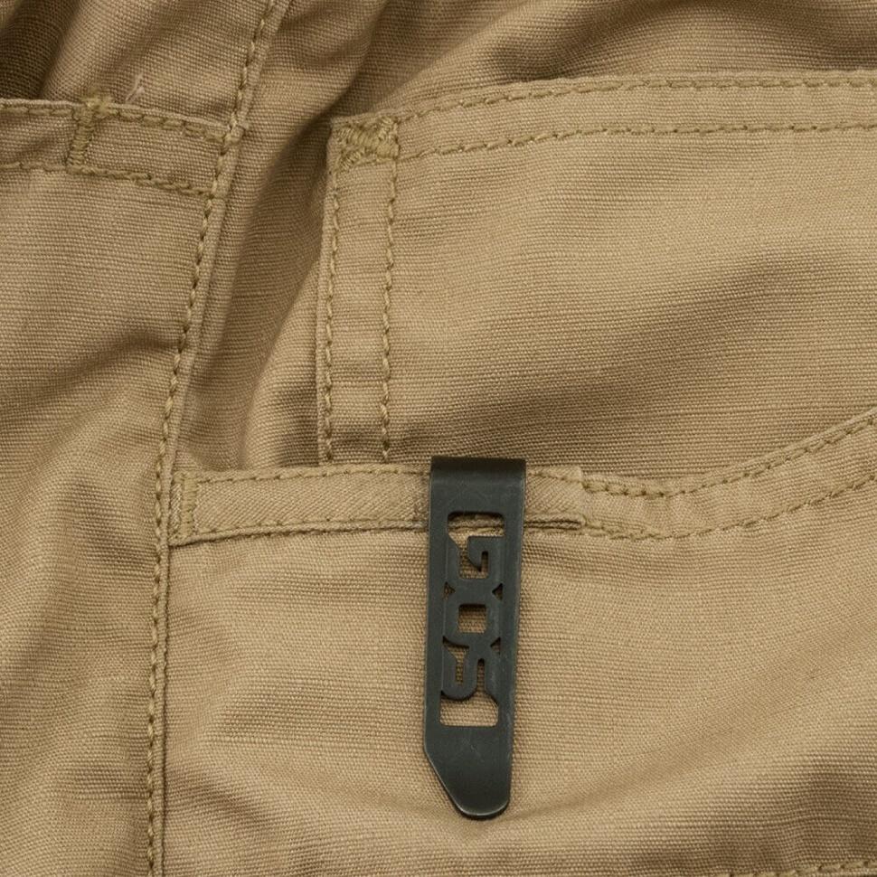 Фото 5 - Складной нож Zoom Mini - SOG ZM1001, сталь лезвия AUS-8 Satin Polished, рукоять алюминий, чёрный