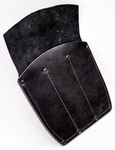 Ножны-чехол для 3-х метательных ножей кожаные, черные - Nozhikov.ru