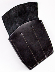 Ножны-чехол для 3-х метательных ножей кожаные, черные