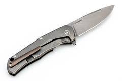 Нож складной LionSteel T.R.E. Bronze Titanium, сталь M390, рукоять титан, фото 4