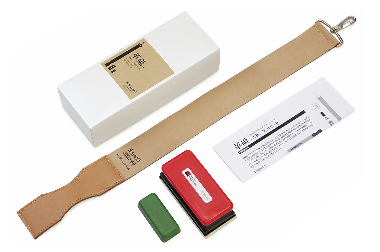 Набор для полировки SUEHIRO ремень, паста, приспособление для полировки
