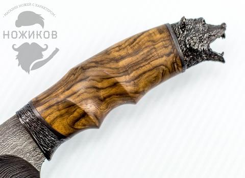 Авторский Нож из Дамаска №63, Кизляр. Вид 3