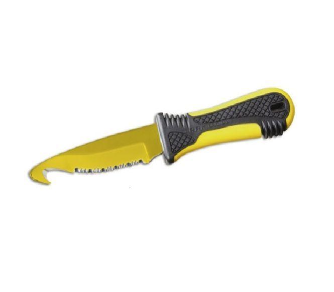 Фото 3 - Спасательный нож для яхтсменов Fantoni, Morris Baroni Design-2, Race Rescue, FAN/PC020YeL, сталь AISI 425 mod, рукоять термопластик GRN
