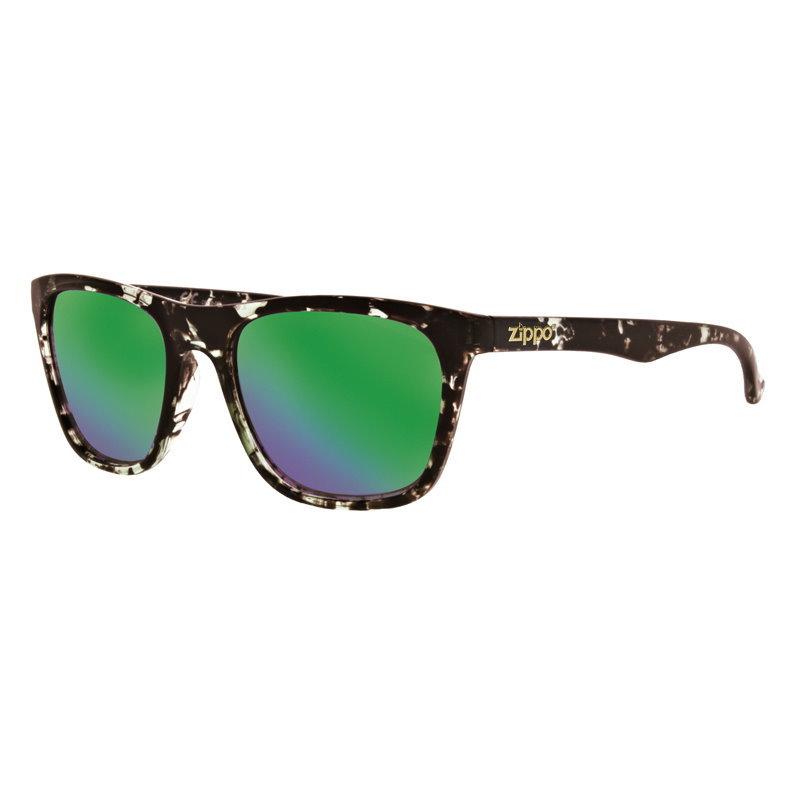 Фото - Очки солнцезащитные ZIPPO OB35-06, унисекс, чёрные, оправа из поликарбоната очки солнцезащитные zippo ob70 01 унисекс чёрные оправа из поликарбоната
