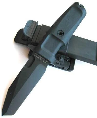 Нож с фиксированным клинком Extrema Ratio Fulcrum Combat Plain Edge, сталь Böhler N690, рукоять пластик. Вид 4