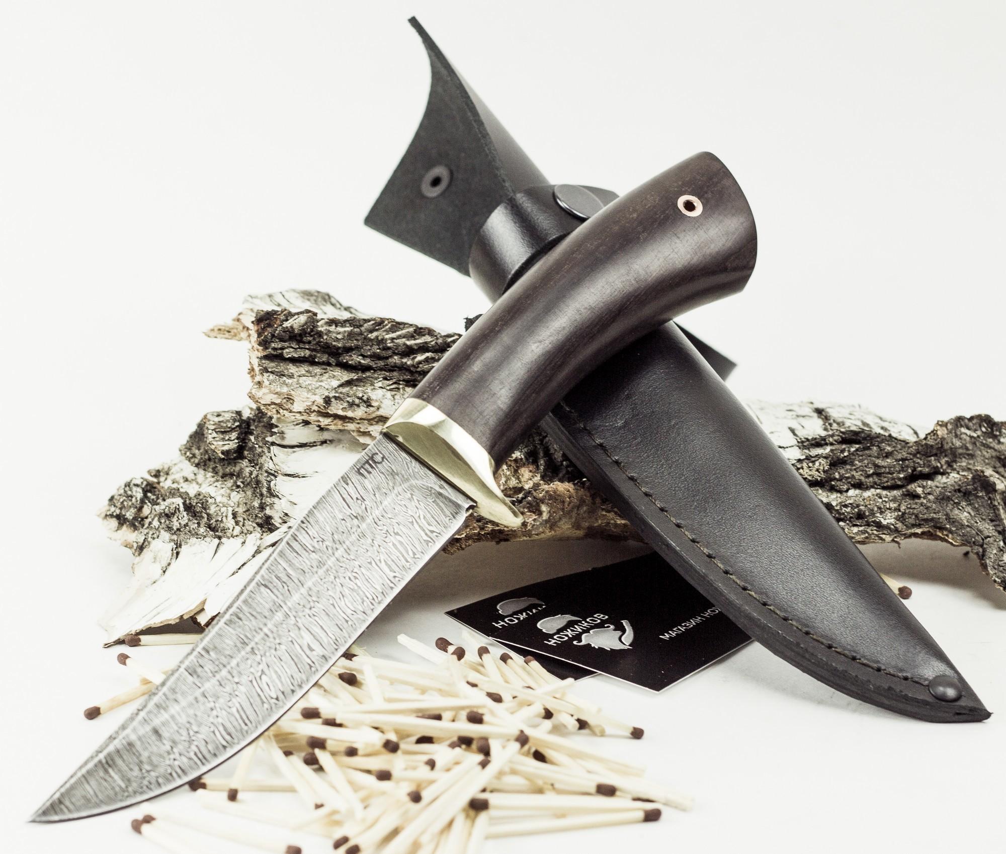 Фото 16 - Нож Лис-2, дамасская сталь от Промтехснаб
