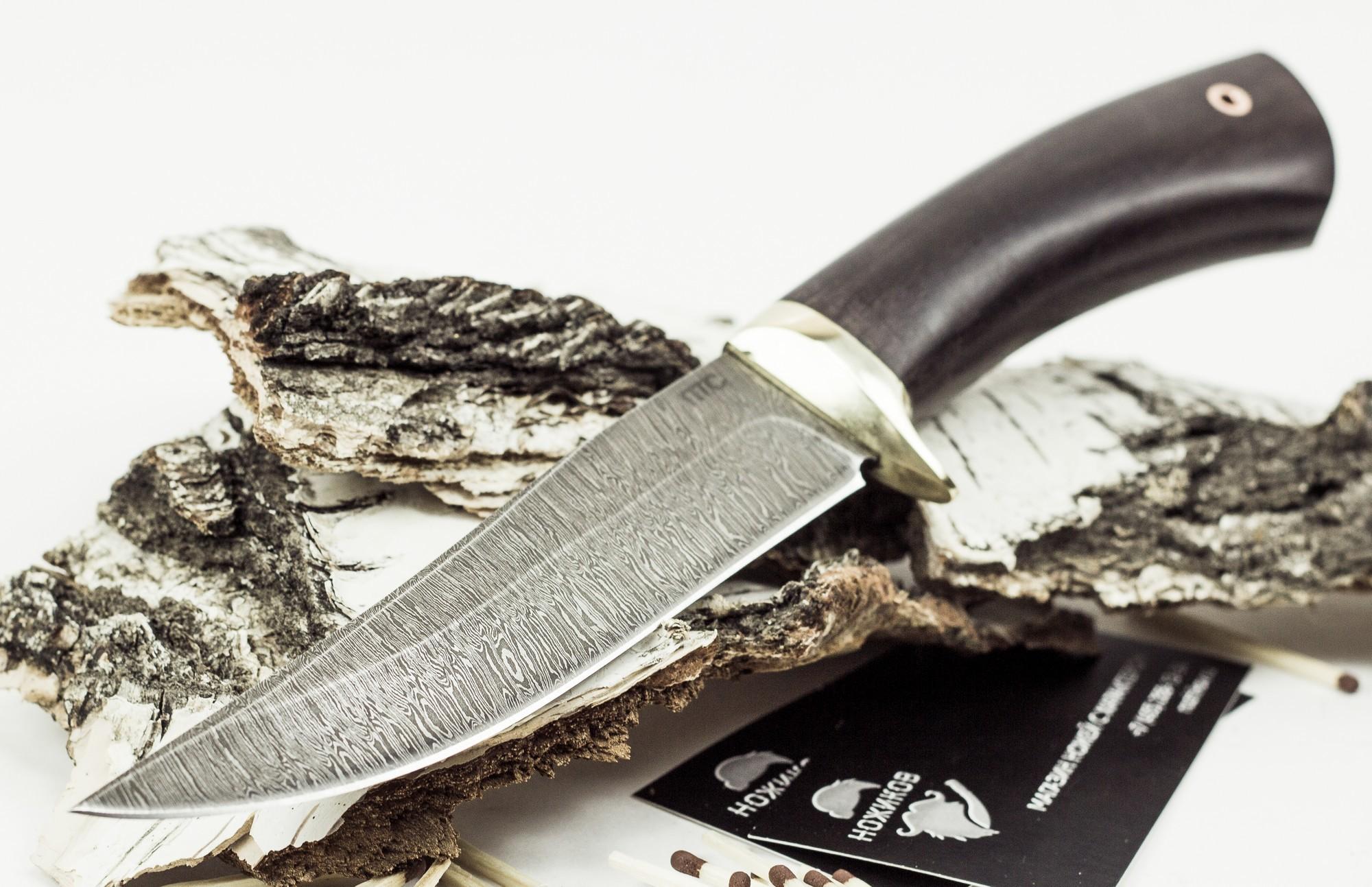 Фото 14 - Нож Лис-2, дамасская сталь от Промтехснаб