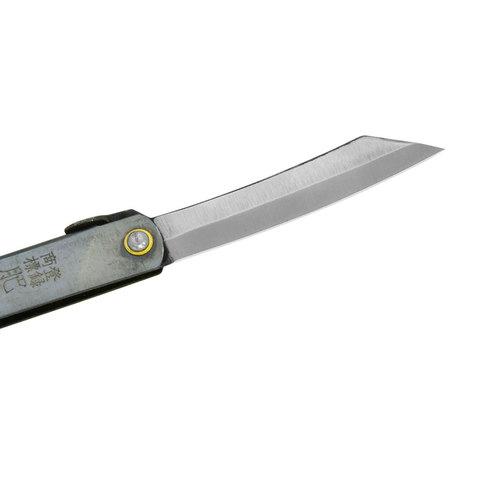 Нож складной Higonokami Reverse Tanto, сталь AoGami, рукоять нержавеющая сталь, серый. Вид 4