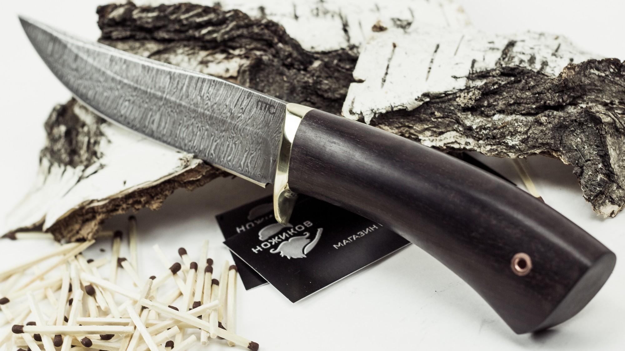 Фото 15 - Нож Лис-2, дамасская сталь от Промтехснаб