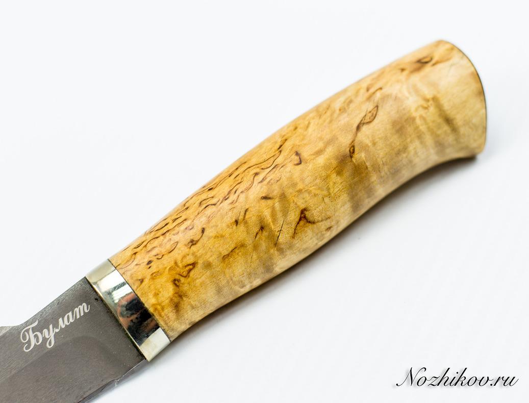 Фото 9 - Нож Пума Булат, карельская береза от Мастерская Климентьева