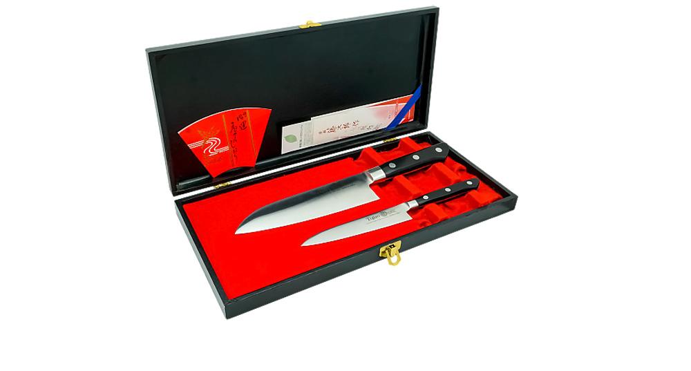 Фото 5 - Набор из 2-х кухонных ножей, Tojiro, FD-141, в подарочной упаковке