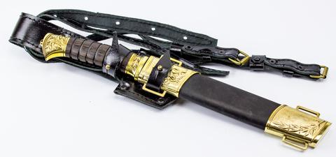 Нож Пластунский, сталь 95х18 х/л, крепление на бедро. Вид 4