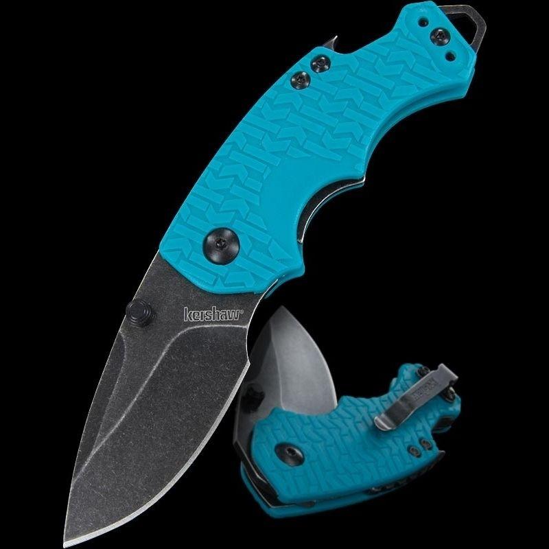 Фото 6 - Нож складной Shuffle - KERSHAW 8700TEALBW, сталь 8Cr13MoV c покрытием BlackWash™, рукоять текстурированный термопластик GFN бирюзового цвета