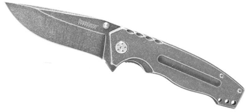 Фото 4 - Складной полуавтоматический нож Kershaw Mentalist K1307BW, сталь 4Cr14, рукоять нержавеющая сталь