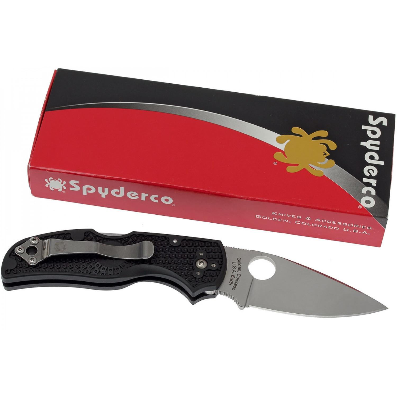 Фото 6 - Нож складной Native 5 - Spyderco C41PBK5, сталь Crucible CPM® S30V™ Satin Plain, рукоять термопластик FRN, чёрный
