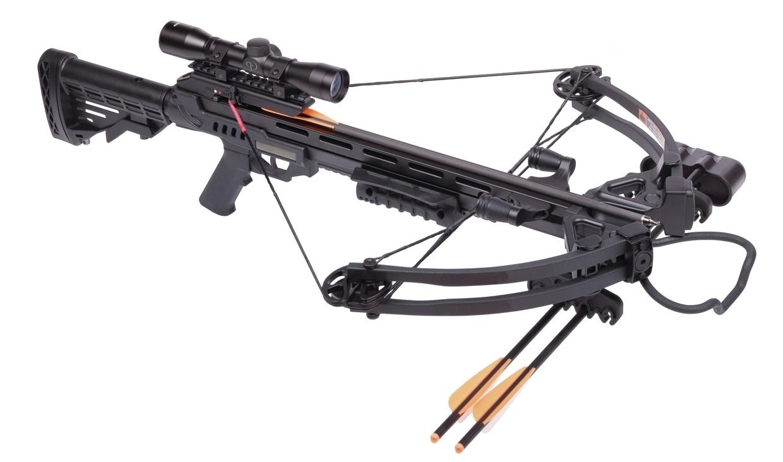 Фото - Арбалет блочный Man Kung MK-XB52 Stalker чёрный KIT арбалет блочный poelang accelerator 370 с комплектом аксессуаров цвет камуфляжный