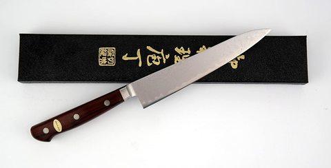 Нож кухонный поварской Al Mar, сталь VG-10 Damascus, рукоять дерево кокоболо