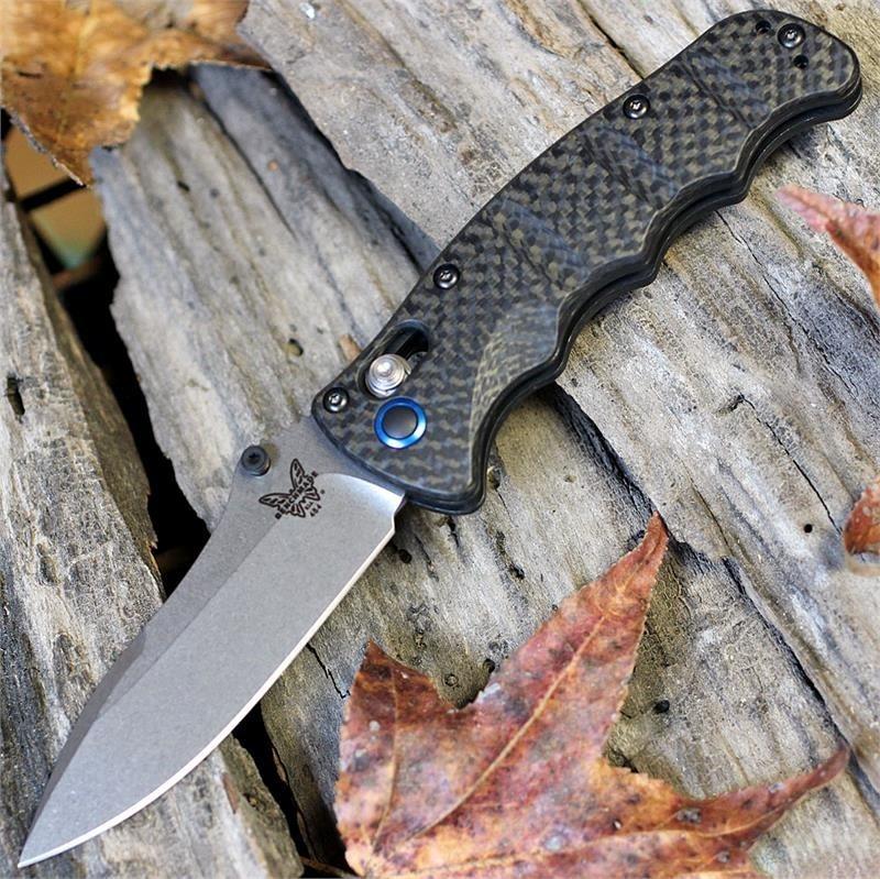 Фото 6 - Складной нож Benchmade Nakamura Carbon 484-1, сталь S90V, рукоять карбон