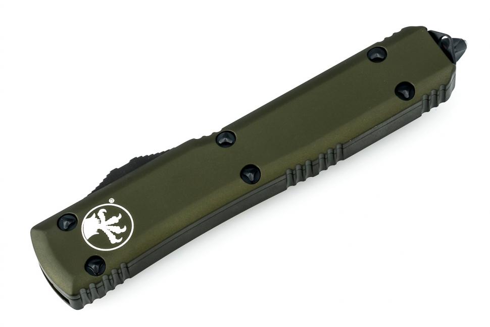 Фото 10 - Автоматический выкидной нож Microtech Ultratech S/E MT_121-1OD, сталь Elmax, рукоять алюминий