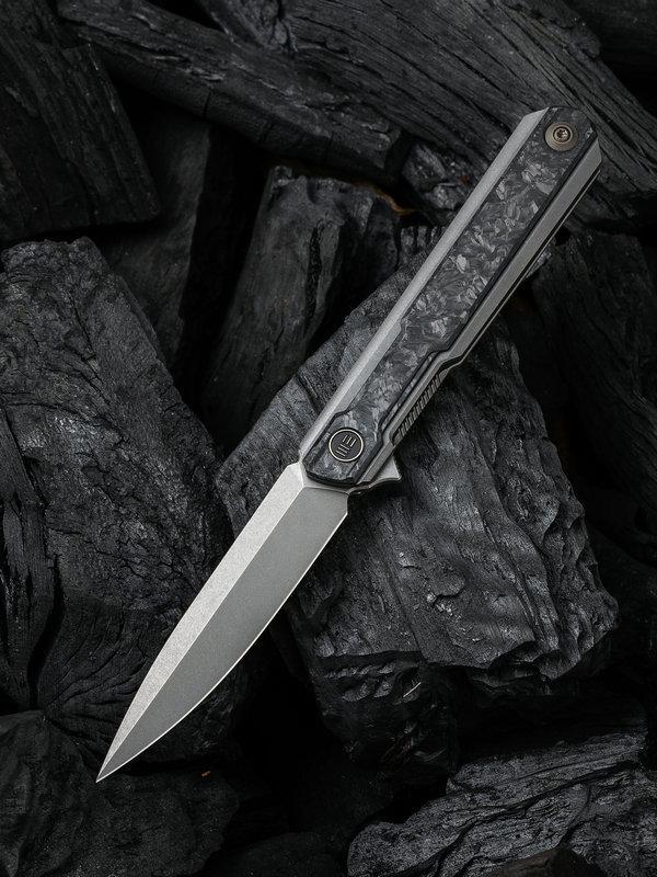 Складной нож WE Knife Peer Gray, CPM 20CV, титан/карбон