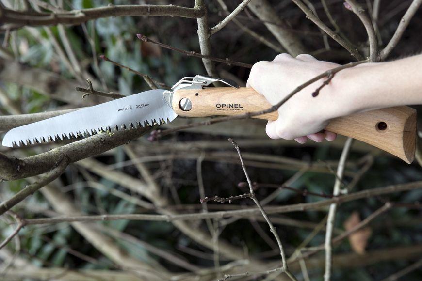 Фото 4 - Пила Opinel складная №18, сталь Sandvik 12С27, рукоять бук, блистер, 000687