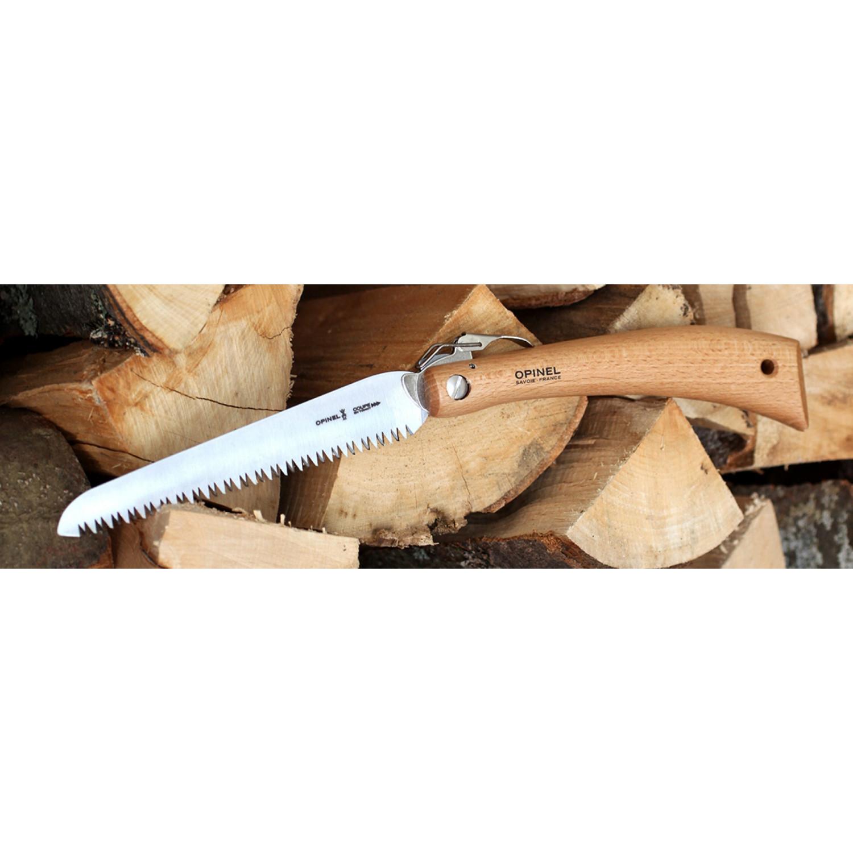 Фото 5 - Пила Opinel складная №18, сталь Sandvik 12С27, рукоять бук, блистер, 000687