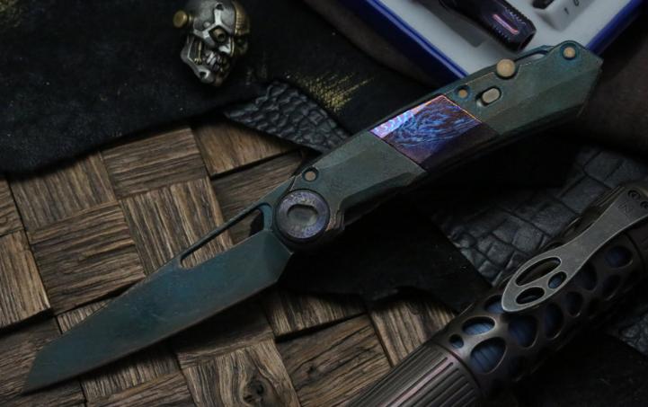 Фото 2 - Складной нож CKF Terra Snecx , сталь M390, рукоять Titanium от Custom Knife Factory